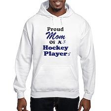 Mom 3 Hockey Players Hoodie