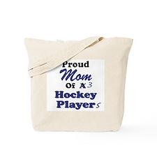 Mom 3 Hockey Players Tote Bag