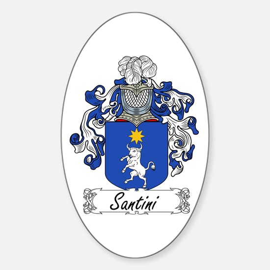 Santini Coat of Arms Oval Decal