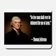 Jefferson On Guns Mousepad