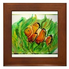 Clownfish, Bright, Fun, Framed Tile