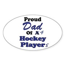 Dad 4 Hockey Players Decal