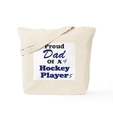 Dad 4 Hockey Players Tote Bag