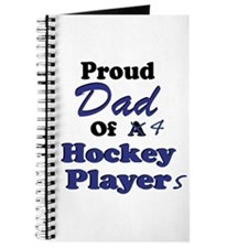 Dad 4 Hockey Players Journal