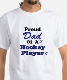 Dad 2 Hockey Players Shirt