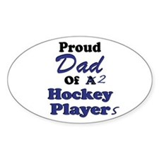 Dad 2 Hockey Players Decal