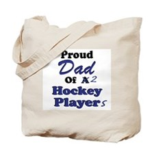 Dad 2 Hockey Players Tote Bag