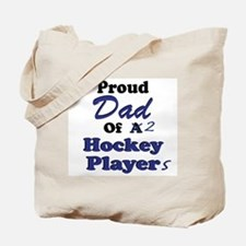Dad 2 Hockey Players Tote Bag