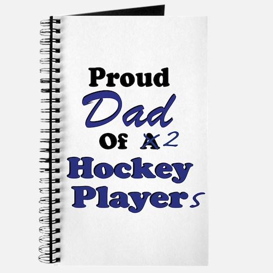 Dad 2 Hockey Players Journal