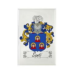 Santi Family Crest Rectangle Magnet