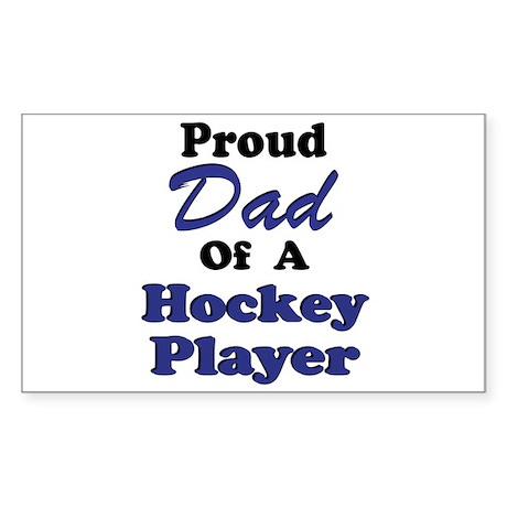 Dad Hockey Player Sticker (Rectangular)