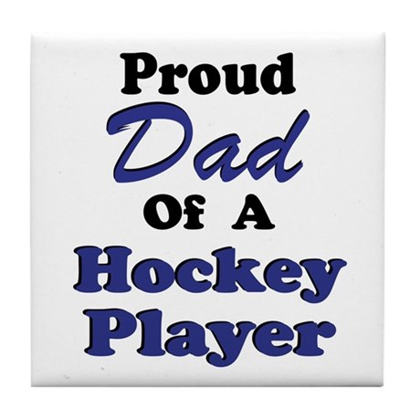 Dad Hockey Player Tile Coaster