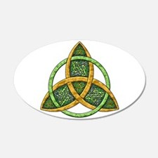 Celtic Trinity Knot 38.5 x 24.5 Oval Wall Peel