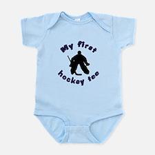 First Hockey Tee (blue text) Infant Bodysuit