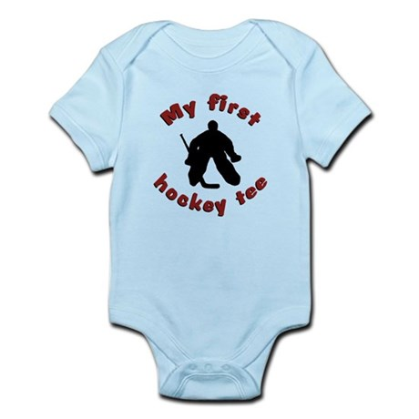 First Hockey Tee (red text) Infant Bodysuit