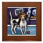 AMERICAN FOXHOUND smiling moo Framed Tile