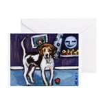 AMERICAN FOXHOUND smiling moo Greeting Cards (Pack