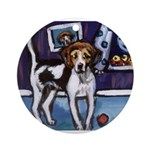AMERICAN FOXHOUND smiling moo Ornament (Round)
