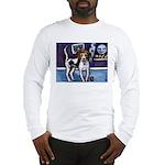 AMERICAN FOXHOUND smiling moo Long Sleeve T-Shirt