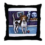 AMERICAN FOXHOUND smiling moo Throw Pillow
