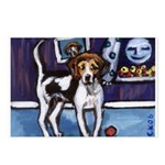AMERICAN FOXHOUND smiling moo Postcards (Package o