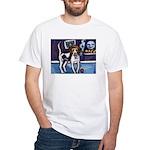 AMERICAN FOXHOUND smiling moo White T-Shirt