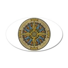 Celtic Compass 22x14 Oval Wall Peel