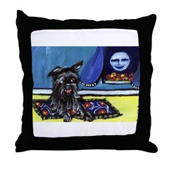 AFFENPINSCHER whimsical dog a Throw Pillow