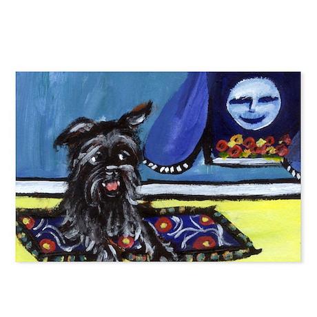AFFENPINSCHER whimsical dog a Postcards (Package o