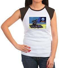 AFFENPINSCHER whimsical dog a Women's Cap Sleeve T