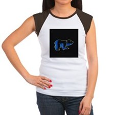 BLUE HAPPY BEAR Women's Cap Sleeve T-Shirt