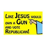 Like Jesus Would vote Republican wall graphic