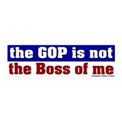 GOP Not the Boss of Me 20x6 Wall Peel Decal