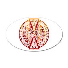 Celtic Knotwork Dragons Fire 22x14 Oval Wall Peel
