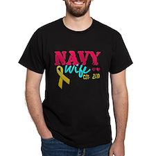 Navy Wife Est 2010 T-Shirt