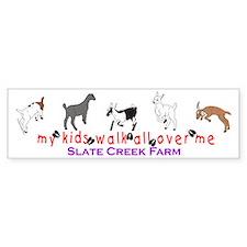 SCF my kids walk... Bumper Sticker