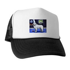 GREAT PYRENEES smiling moon Trucker Hat