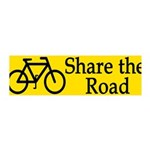Share the Road (removable wall graphic decal)