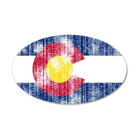 Colorado 38.5 x 24.5 Oval Wall Peel