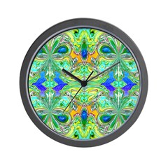 <b>BUTTERFLY SERIES:</b> Blue-Green Wall Clock