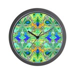 BUTTERFLY SERIES:  Blue-Green Wall Clock