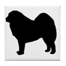 Funny Tibetan mastiff Tile Coaster