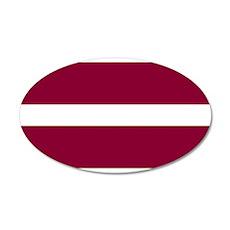 Latvia 22x14 Oval Wall Peel