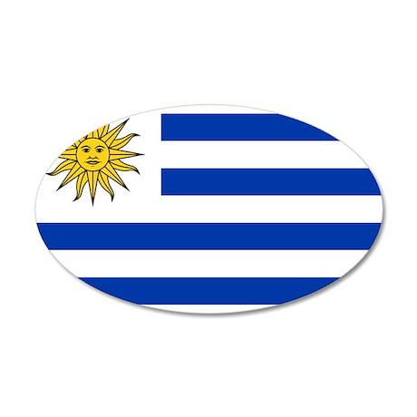 Uruguay 38.5 x 24.5 Oval Wall Peel