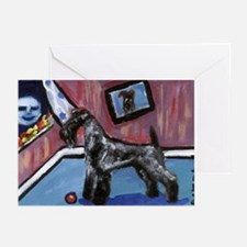 KERRY BLUE TERRIER smiling mo Greeting Cards (Pack
