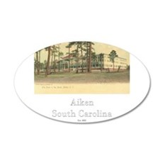 Park in the Pines Hotel 22x14 Oval Wall Peel