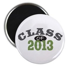 "Class Of 2013 Green 2.25"" Magnet (10 pack)"
