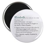 Jane Austen Elizabeth Definition Magnet