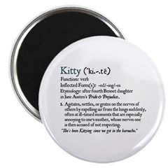 Jane Austen Kitty Definition Magnet