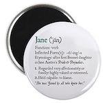 Jane Austen Jane Definition Magnet